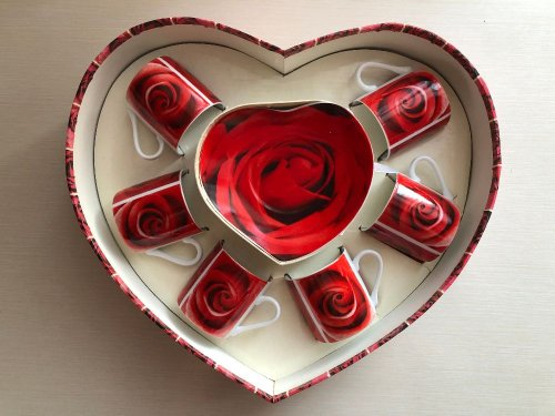 Кофейный набор «Red Roses» на 6 персон